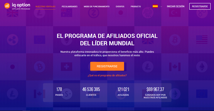Programa de afiliados del Broker IQ Option
